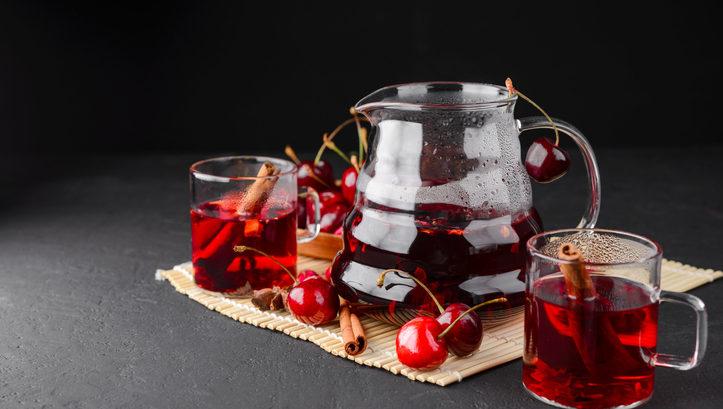 té de cereza casero receta