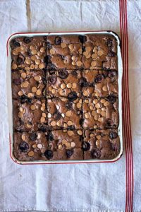 Spanish Picota Cherry Chocolate Brownies