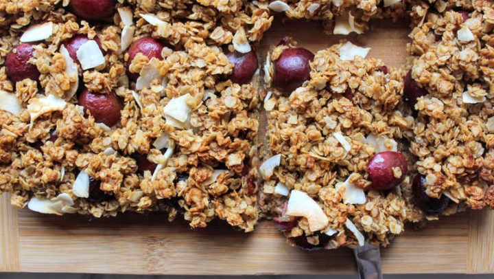 Spanish Picota Cherry Coconut Flapjack