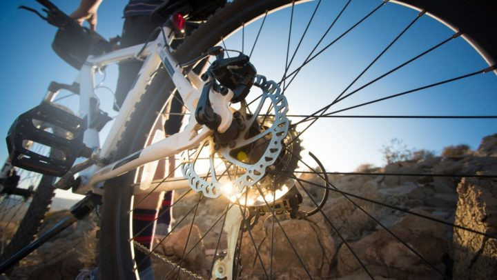 Detalle de mountain bike